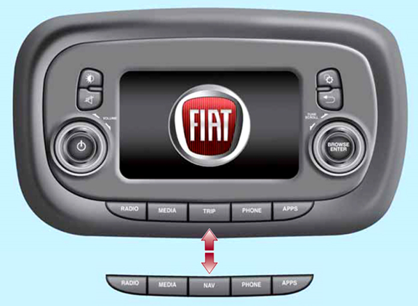Fig. 8 - Fiat 500X - Radio VP2 / VP2-Nav